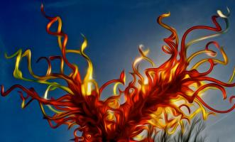Medusa IV:  Variation on a Theme by Dale Chihuly. Photograph by Dan Mangan