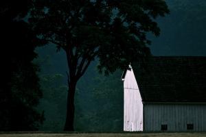First Light, Michael Bushman Barn. Photograph by Dan Mangan