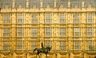 Richard the Lionheart Before Parliament, Westminster. Photograph by Dan Mangan