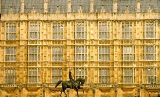 Richard the Lionheart Before Parliament, Westminster. Photograph by Dan Mangan
