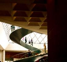 Under the Pyramid, Musée du Louvre. Photograph by Dan Mangan