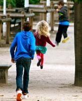 Running on Air, Jardin des Tuileries. Photograph by Dan Mangan