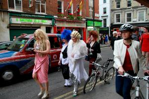 Here's to the Ladies: Old Compton Street, Soho. Photograph by Dan Mangan