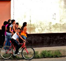 Teenage Girls on Street, León. Photograph by Dan Mangan