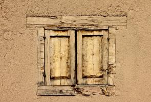 Old Window in Adobe Wall, Taos
