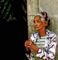 Old Woman, Santa Rosa del Peñón. Photograph by Dan Mangan