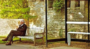 Waiting for the Bus in Oxford. Photograph by Dan Mangan