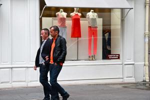 Shades of Orange, Rue des Francs-Bourgeois. Photograph by Dan Mangan