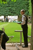 Waiter, Jardin des Tuileries. Photograph by Dan Mangan