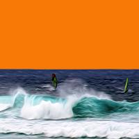 Windsurfing, North Shore of Maui. Photograph by Dan Mangan