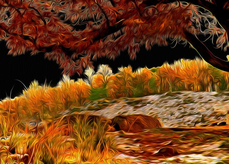 Autumn  Noir: Little Round Top, Gettysburg. Photograph by Dan Mangan