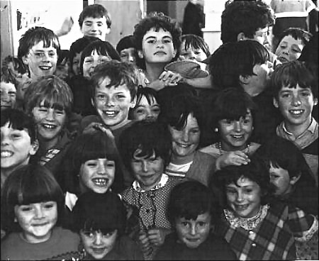Irish Schoolchildren, County Mayo. Photograph by Dan Mangan