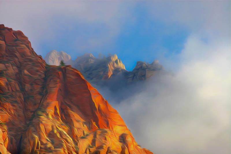 In the Clouds of Heaven, Zion. Photograph by Dan Mangan