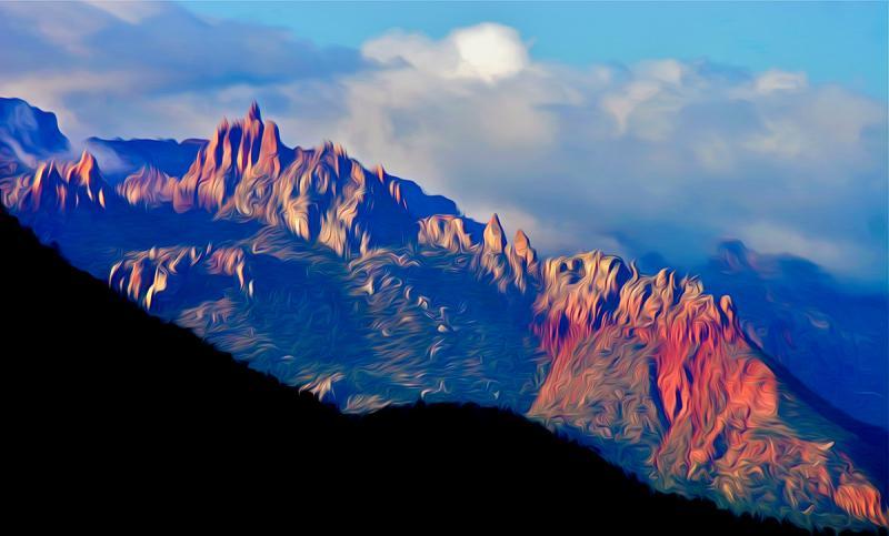 Pinnacles of Fire, Utah. Photograph by Dan Mangan