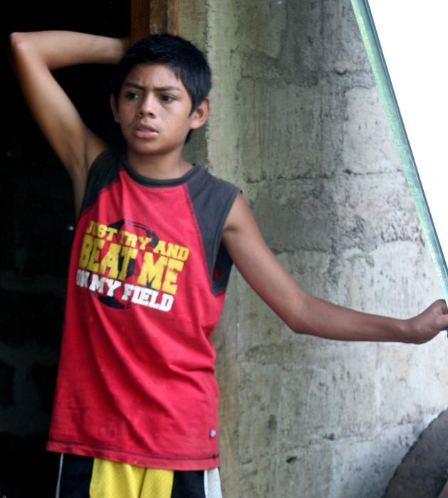 Young Boy, Santa Rosa del Peñón. Photograph by Dan Mangan