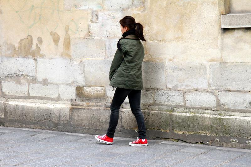 Red Sneakers. Photograph by Dan Mangan