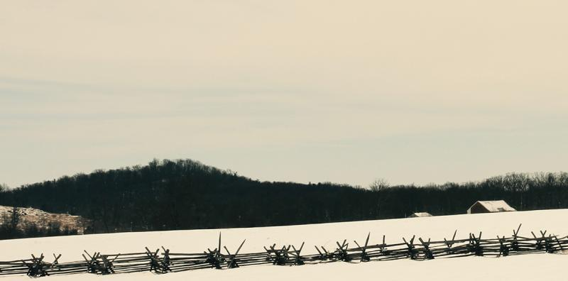 Snake Rail Fence Before the Roundtops, Gettysburg Battlefield