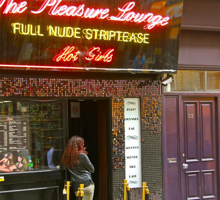 The Pleasure Lounge, Soho. Photograph by Dan Mangan