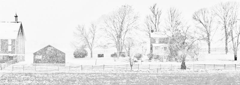 Snowstorm, Codori Farm, Gettysburg Battlefield