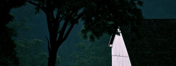 First Light, Michael Bushman Barn. Photograph by Dan Mangan
